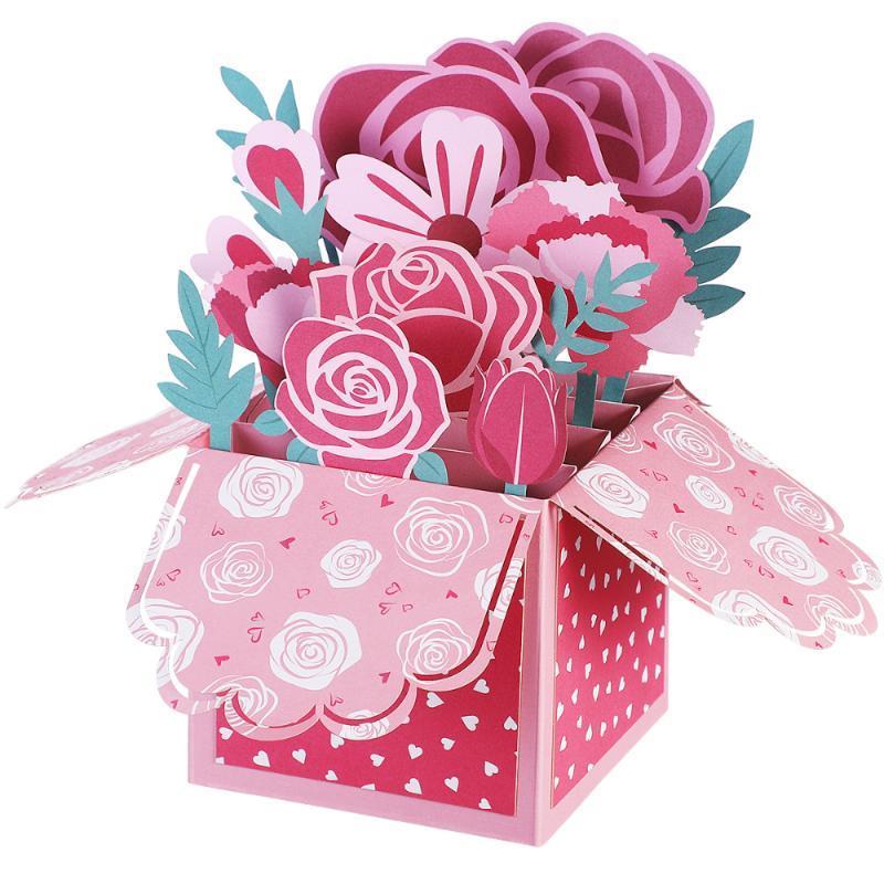 FestaKindom Hollow-Out Dia das Mães Feliz Dia da Mãe 3D saudação com envelope melhor desejo para a mãe favorita