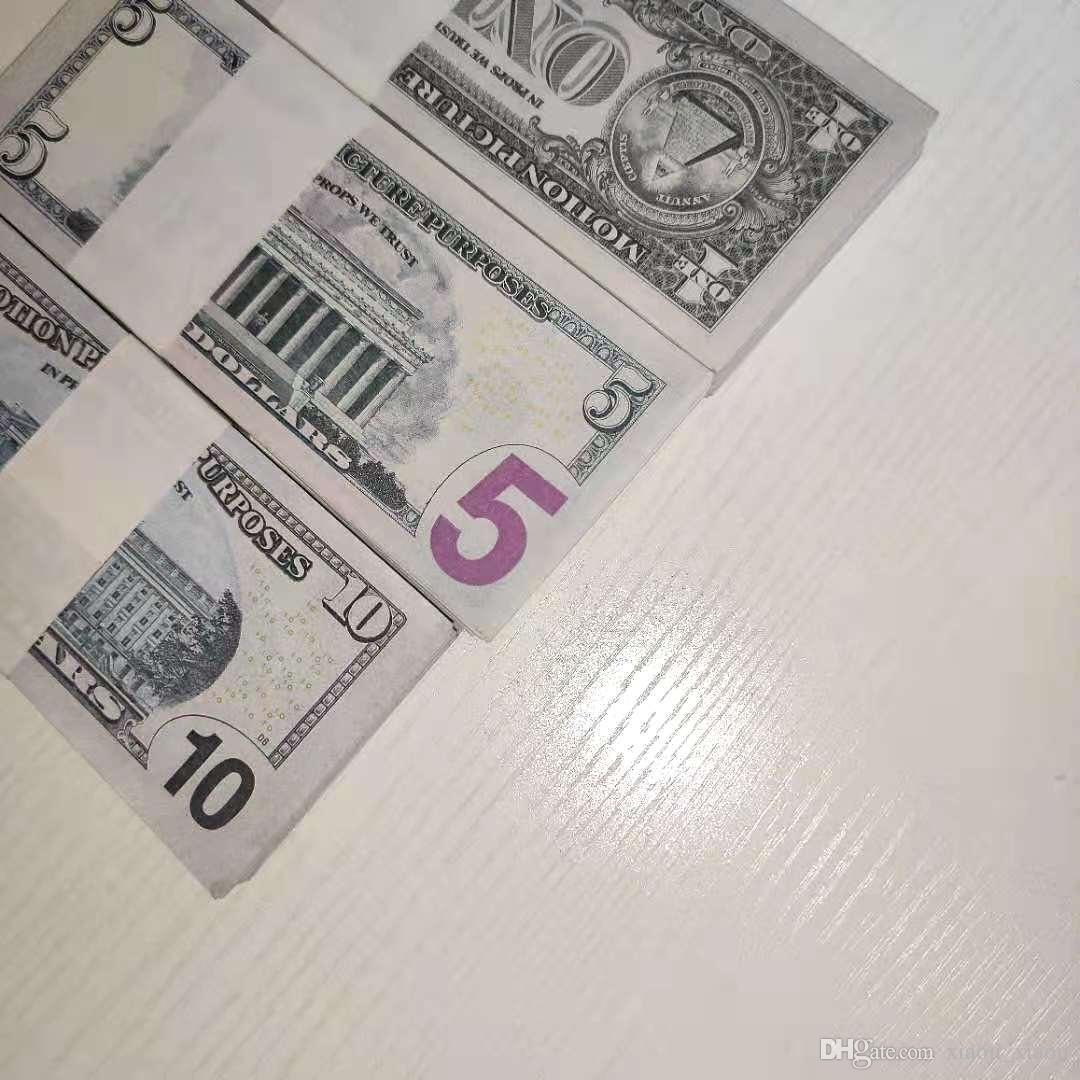 Dólar al por mayor Bar Nightclub Atmósfera Billet Billet Billet Billete de banco falso 1/5/10/20/50/100 Película Play Play Money Billet Faux Money Qjarm