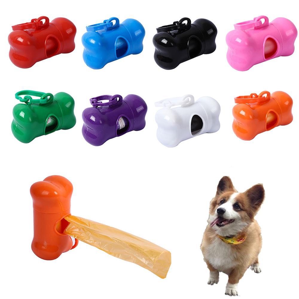 Puppy Dog Poop Scooper Bags Dispenser Garbage Bag Set Poop Collector Holder Portable Pet Dog Pooper Scooper Pets Supplies w-00565