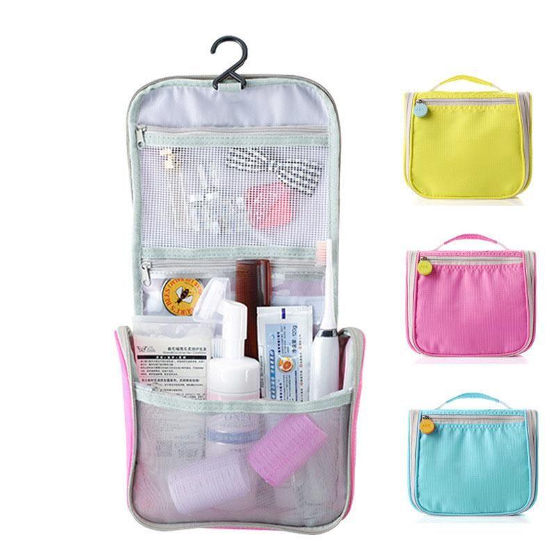 Jpzylfkzl marca colgante de la bolsa de cosmética bolsa de maquillaje de belleza mujeres viajes portátil cosméticos organizador hombres baño a prueba de agua