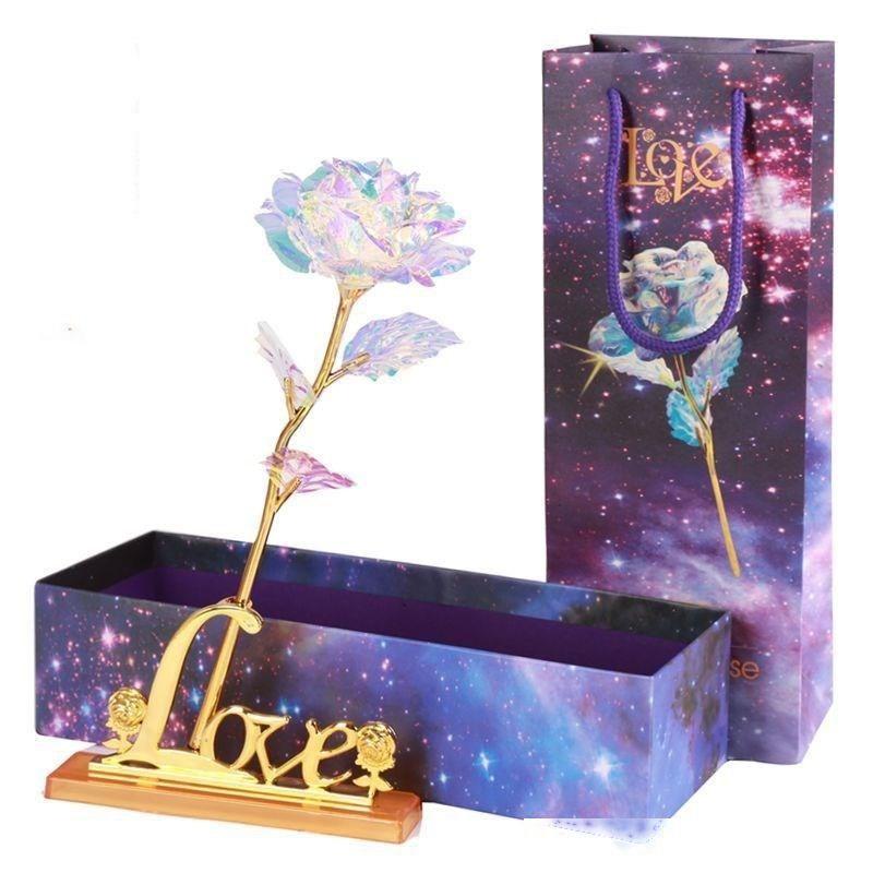 Regalos de boda regalos de la fiesta de cumpleaños de la flor artificial de luz LED de colores únicos Madre s Día de Acción de Gracias Valentine s Day Girl s