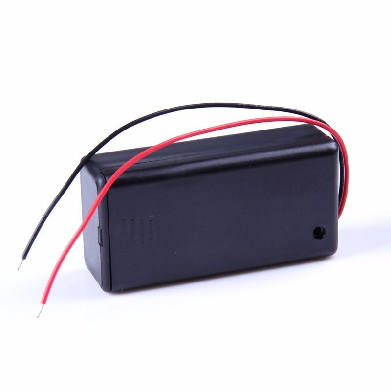 5PCS 9V Battery Holder Box Case with Wire Lead ON/OFF Switch Cover Case