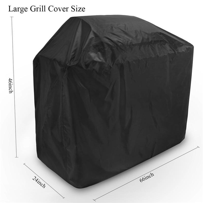 Wholesale 8 Size Amazon Hot Sale Black 210D Oxford Waterproof Outdoor Cooking BBQ Grill Cover Barbeque Grill Accessories Anti Dust Rain Snow