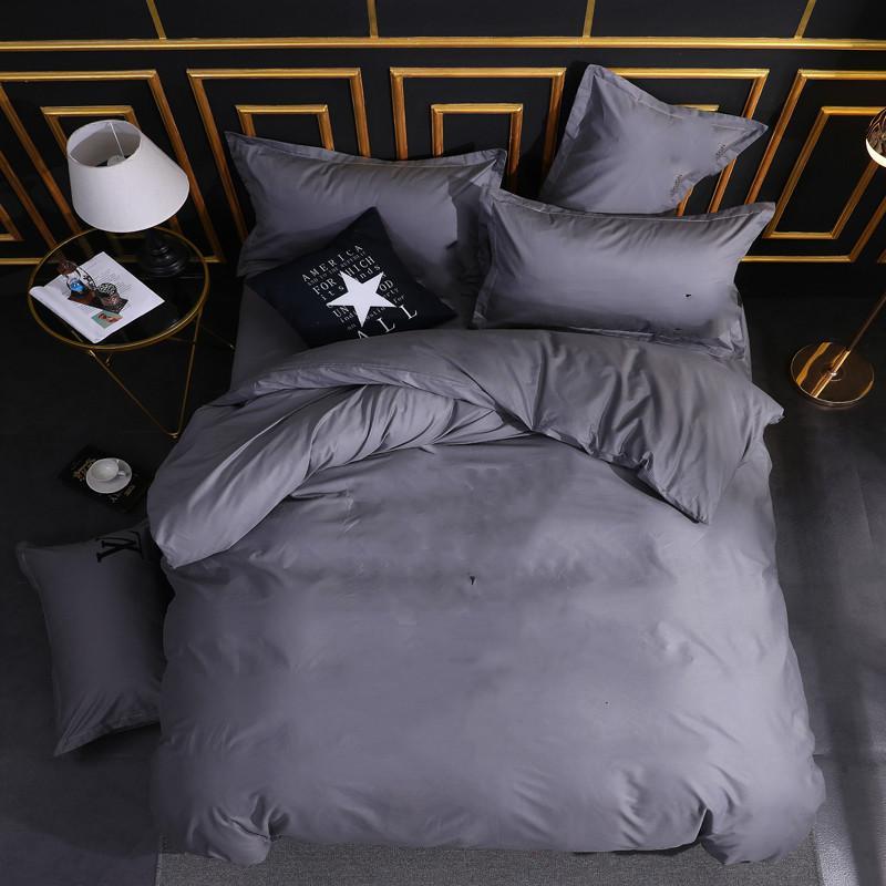 New Queen Calfornial King Biancheria da letto Set da letto 4 pezzi Cotton Duvet Cover Flat Flat Flat Flat Foderas Twin Dimensione trapunta Coperchio copriletto Set da copriletto 3PC 247