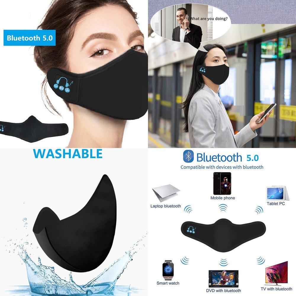 Лицо Bluetooth Фильтровать Ткань Музыка Музыка Player Мойка 2020 Маска Вставьте наушники WQIDL