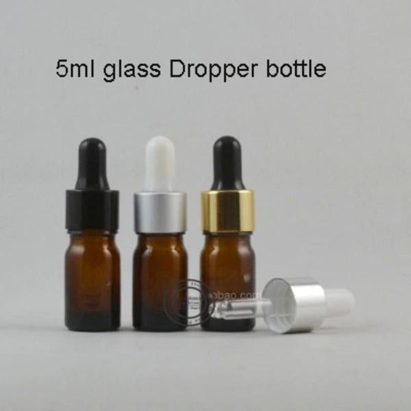 5ml 50pieces mini carino bottiglia di profumo di vetro ricaricabile ricaricabile con cassa di caduta di parfum colorato per spedizione gratuita