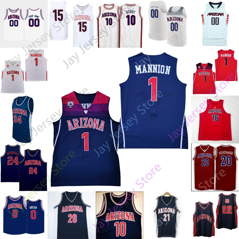 2020 Özel Arizona Wildcats Basketbol Jersey NCAA Koleji Koloko Stoudamire James Akinjo Daniel Batcho Bennedict Mathurin Tibet Gorener