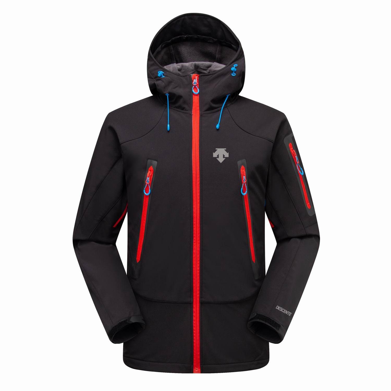 2019 Nuovo Il North Mens Descent Giacche con cappuccio Felpe Fashion Casual Calda Antivento Viso Fronte da sci all'aperto Denali Fleece Giacche Nero