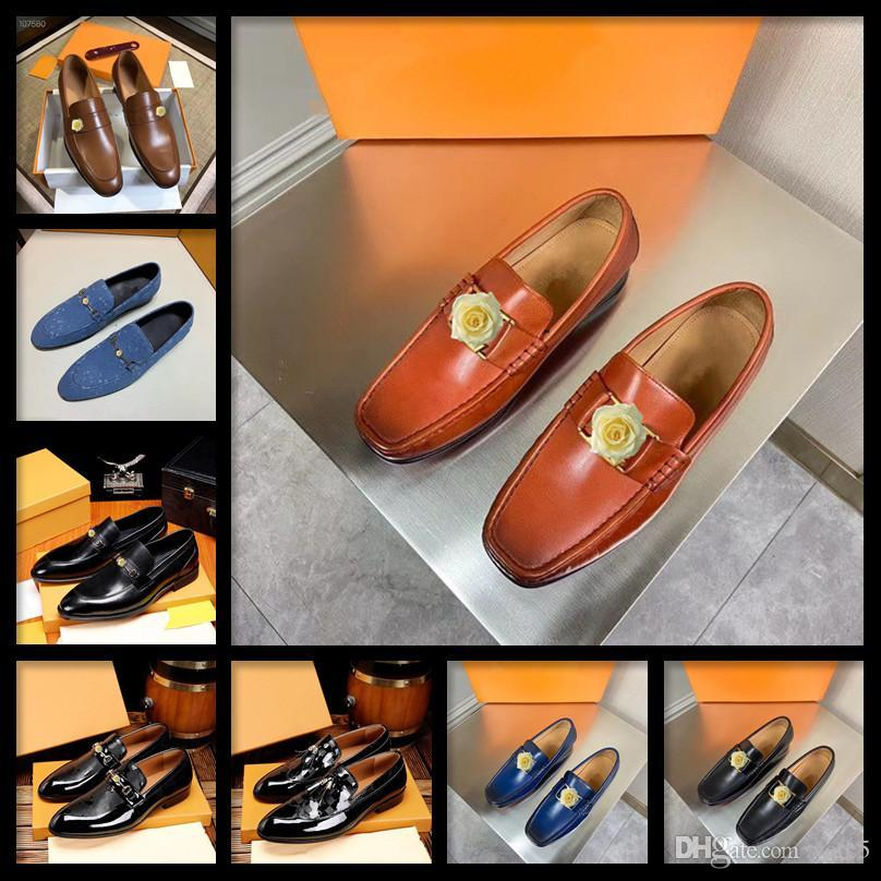 Uomini Casual Natural in pelle marchio marchio da uomo vestito di lusso scarpe stile britannico stile business scarpe piatte traspirante ufficio wedding comfory uomini schoes