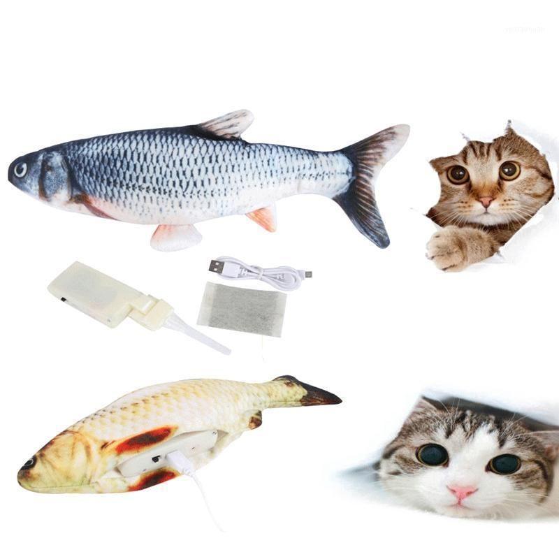 Electronic Pet Cat Simulation Fish Toy Toy Electric USB Recargable Juguetes de Pescado para Perro Gato Cat Masticing Toy Supplies Productos Accesorios1