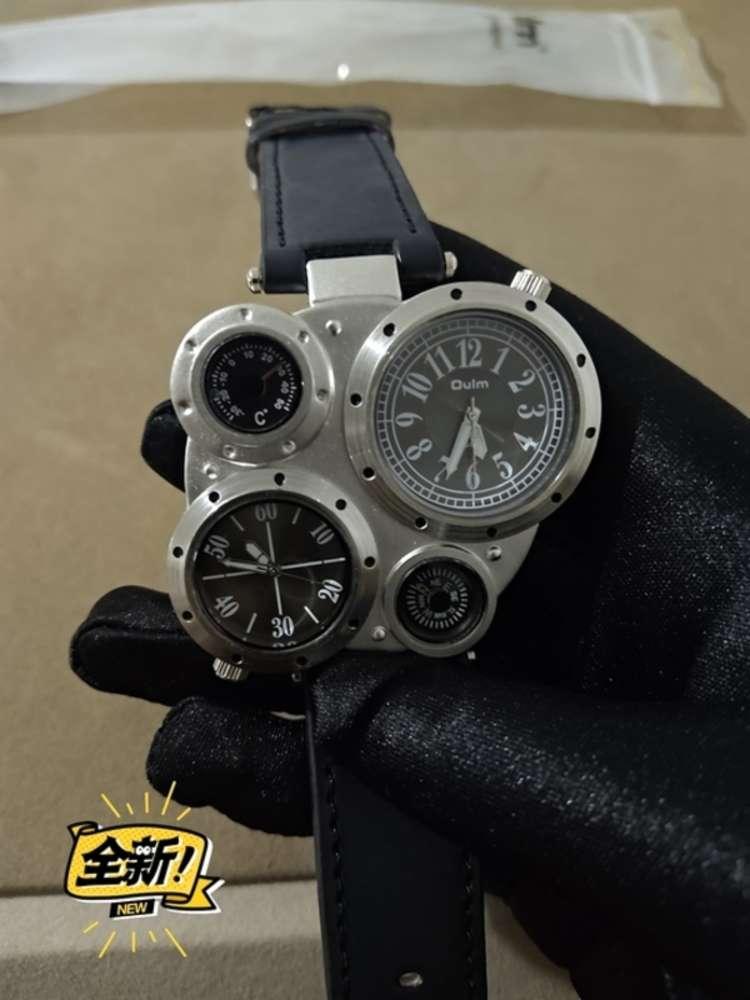 Reloj para hombres Multifunción de acero inoxidable Personalidad Radio Europeo Reloj Multi Dial Reloj Movimiento japonés