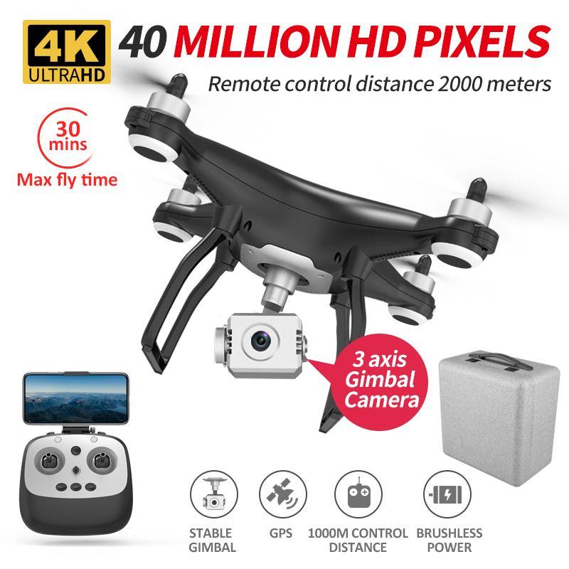 HIPAC X35 بدون طيار 4K GPS مع الكاميرا Profesional 5G فرش 26mins التحكم عن بعد بدون طيار درون كوادكوبتر 3 جيمبال استقرار 201105