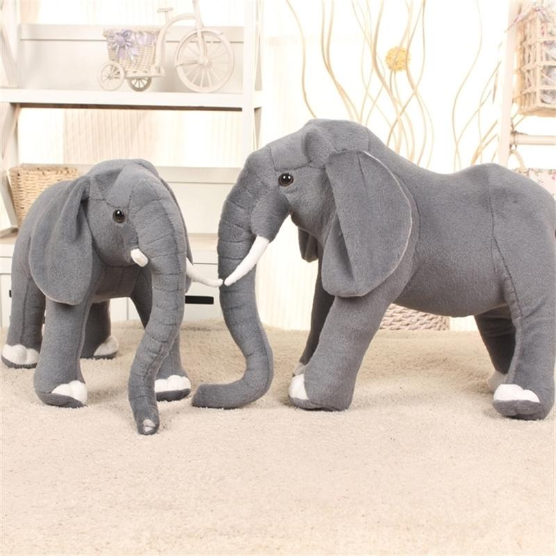 Simulação Elefante Animais Recheados Plus Brinquedo Soft Lion Girafa Almofada Gigante Animais Recheados Cute Childs Presente de Natal AA50MR 201222
