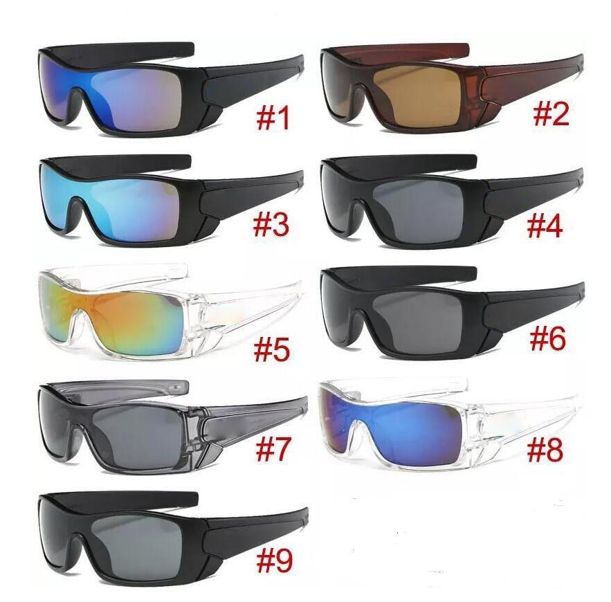 Neue Ankunft Großer Rahmen Sonnenbrille Beliebte Wind Radspiegel Spiegel Sport Outdoor Eyewear Goggles Sonnenbrille Für Männer Frauen fahren Sonnenbrille 10 stücke