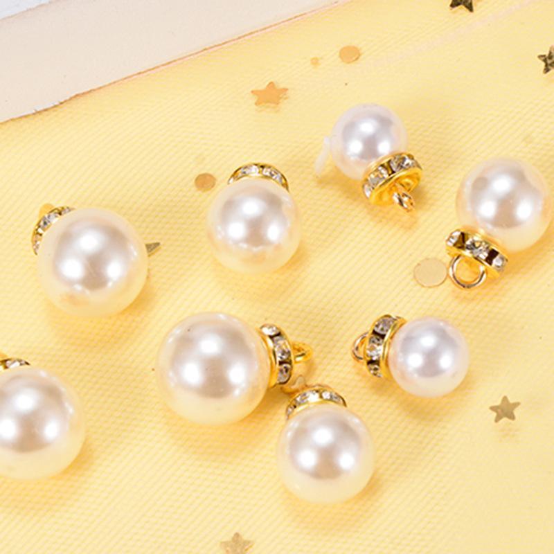 Charms Pearl Bead 12MM 14MM ABS vetro di alta qualità di vendita calda dell'oro di fascino per il braccialetto e la collana