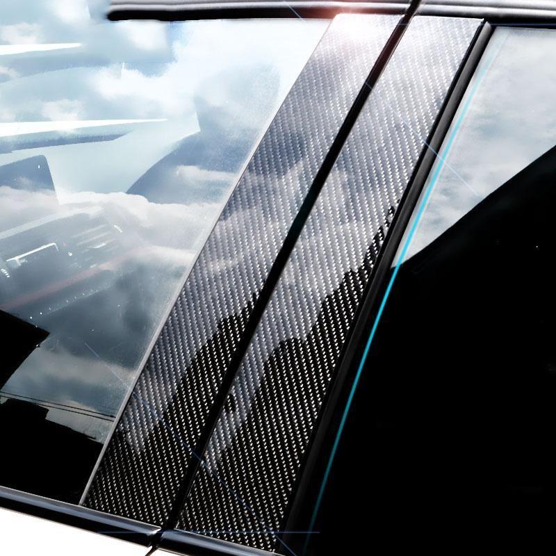 ألياف الكربون نافذة السيارة الزخرفية ملصقا E71 F25 E46 E60 E90 F30 F10 F20 F16 F07 E70 E84 E46 سيارة التصميم صائق ملصقا