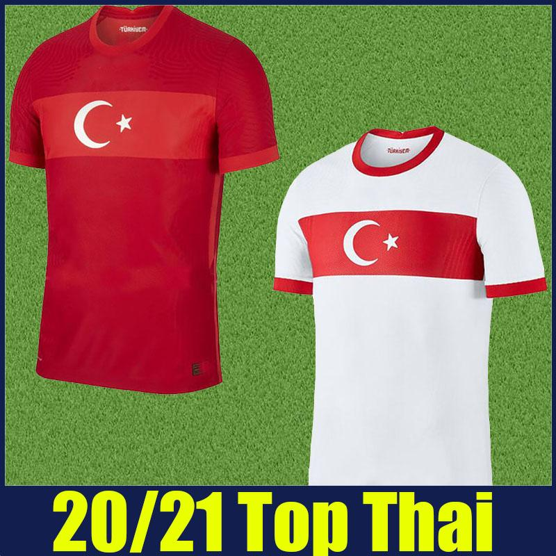 2020 2021 Türkei Fußball-Trikots Nationalmannschaft Uniformen Zeki Celik Calhanoglu Fußball Jersey CAGLAR CENK TOSUN CENGIZ unter Fußballhemden