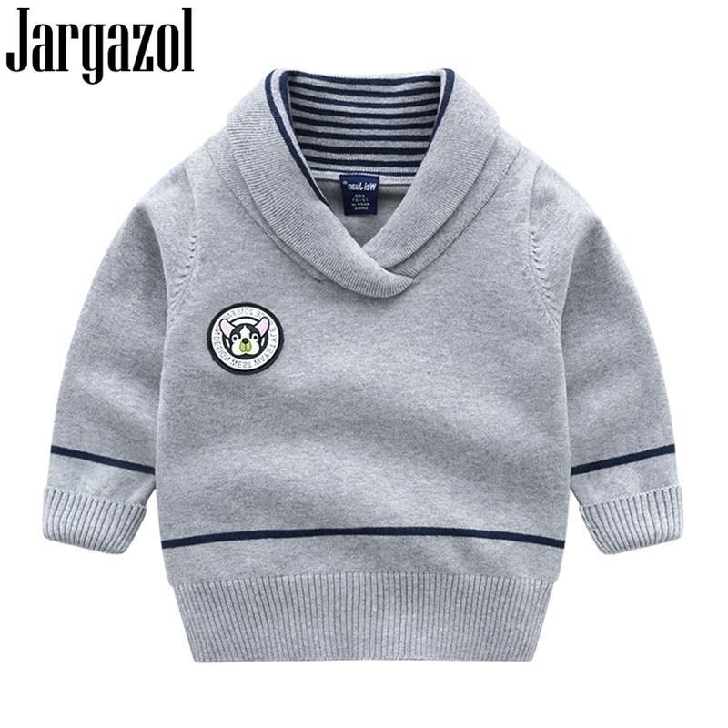 Яргазол малыш девочек свитера мультфильм собака буква значок ребёнок одежда детей вязание пуловер детей красный свитер мальчики одежда 201201