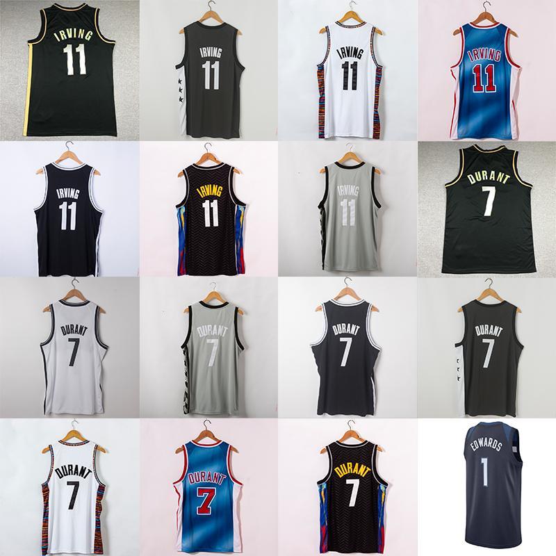 NCAA 11 Irving Jersey Kevin 7 Durant Karl-Anthony 32 Towns Carsen 1 Edwards Männer Basketball-Trikots