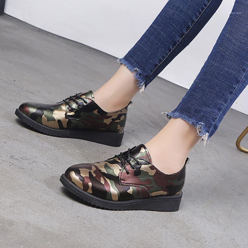Femininas senhoras camuflagem plataforma cunhas moda confortável calçado causal1