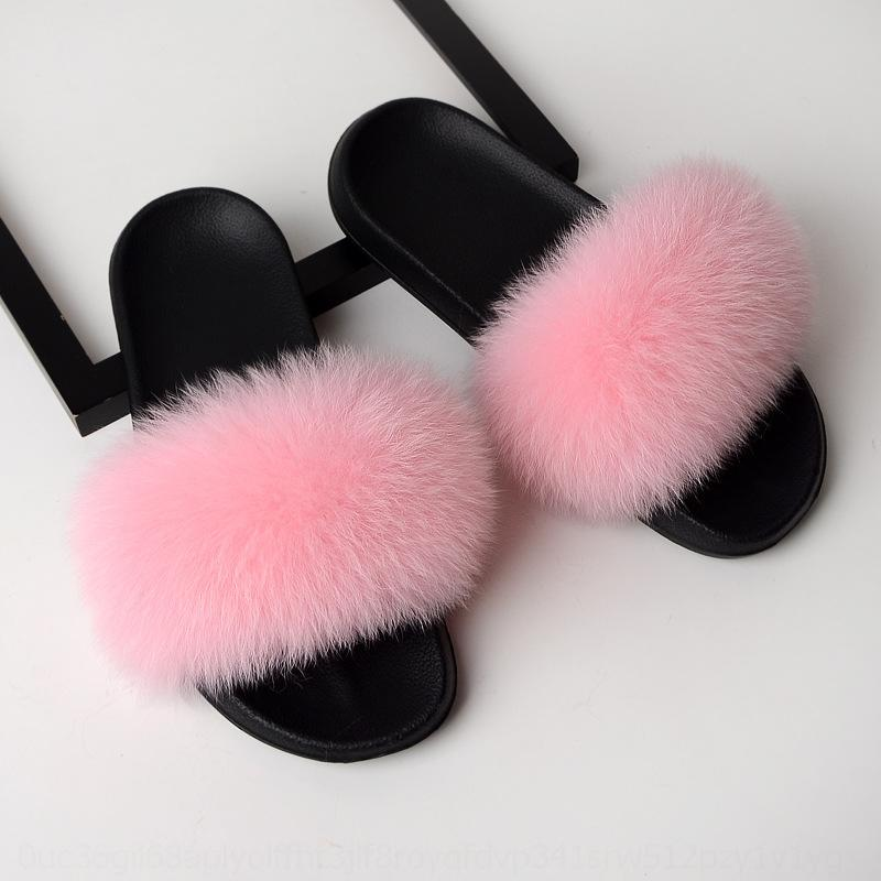 JFPK Puentialua для девушки обувь меховой тапочки женщин роскошь крытый слайдбоксы туфли падение судов зимние дамы # 508