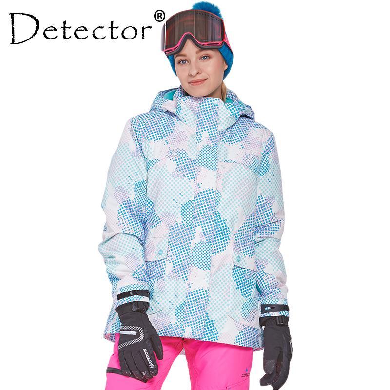 Detector Mujeres Ski Snow Jacket A prueba de agua Abrigo térmico a prueba de viento Senderismo Camping Ciclismo Chaqueta de esquí de invierno Z1128