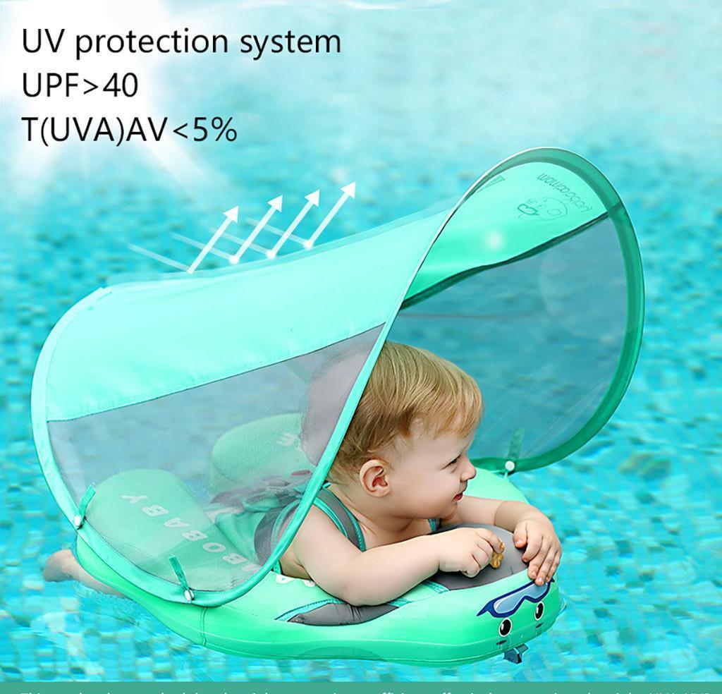 Bambini bambino nuoto anelli a baldacchino anello di nuoto con parasole senza gonfiabile per bambini accessori per nuoto galleggianti s Bbyjdh alice_bag