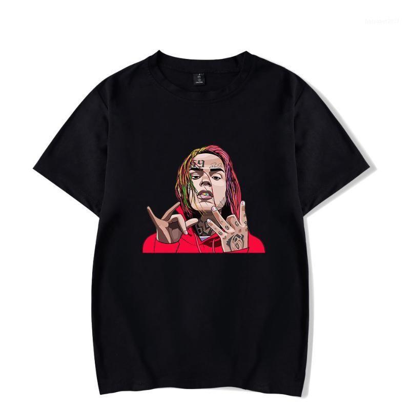 2020 летняя мода хлопчатобумажная футболка певица 6ix9ine / tekashi69 3D печатные футболки унисекс хип-хоп с коротким рукавом harajuku повседневная топ