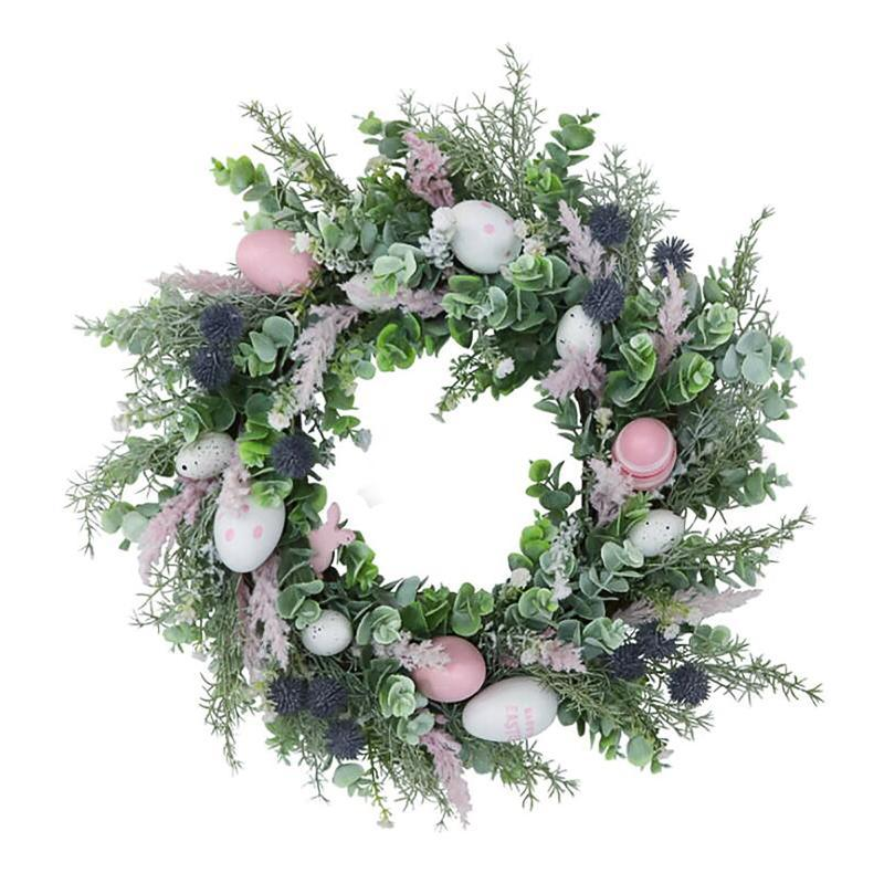 Fleurs décoratives Couronne Décoration de Pâques Garland Diy Rotin Couronne Porte Porte Mur De Mariage Décorations de Noël pour la maison