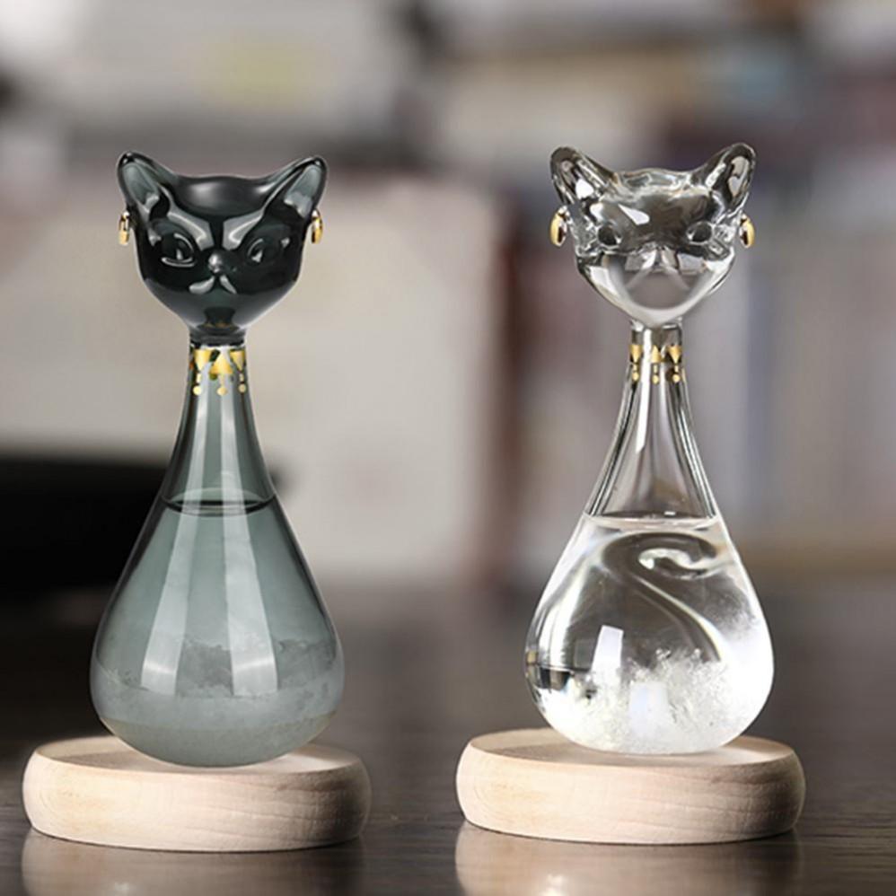 Prévisions météo Glass Bottle Tempo Drop Creative Craft Arts Cadeaux Gayer- Anderson Chat du British Museum Fy2377