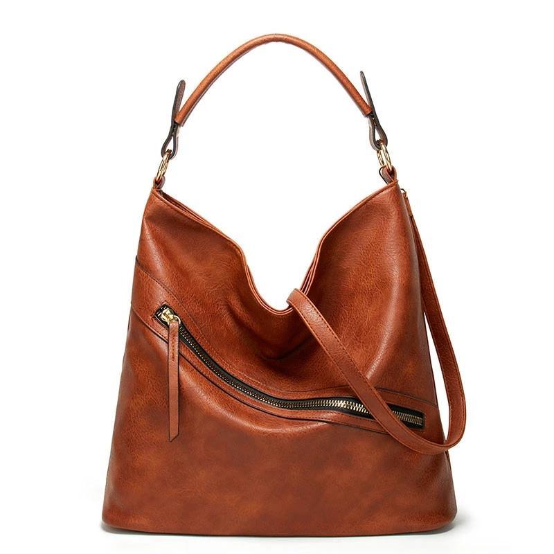 HBP Ünlü Marka Tasarımcısı Çanta Deri Çanta Kadınlar Büyük Kapasiteli Vintage El Üst Kolu Çanta Katı Tote Bayanlar Omuz Çantası