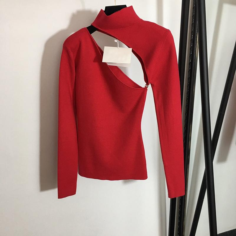 EUROPE Mode T-shirt Lettres Longues Sleeve Winter Femmes Chemise SML X1217