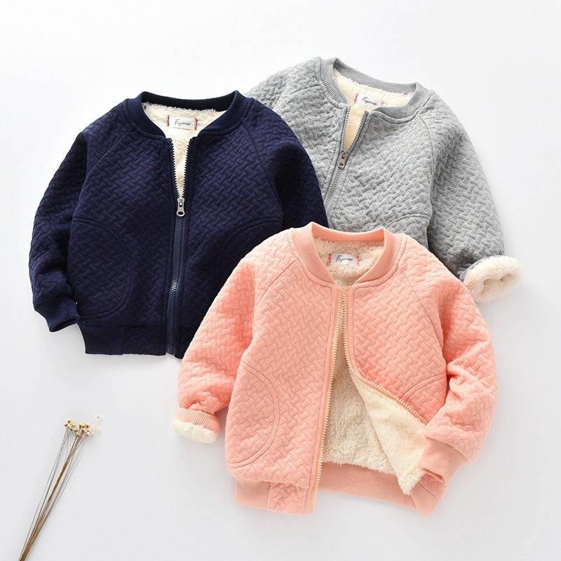 Chaquetas de Corduroy para niños Invierno New Baby Boy Boys and Girls Warm Jacket Kids Gross Plus Velvet Coats Kids Hooled Wool Coats 201110