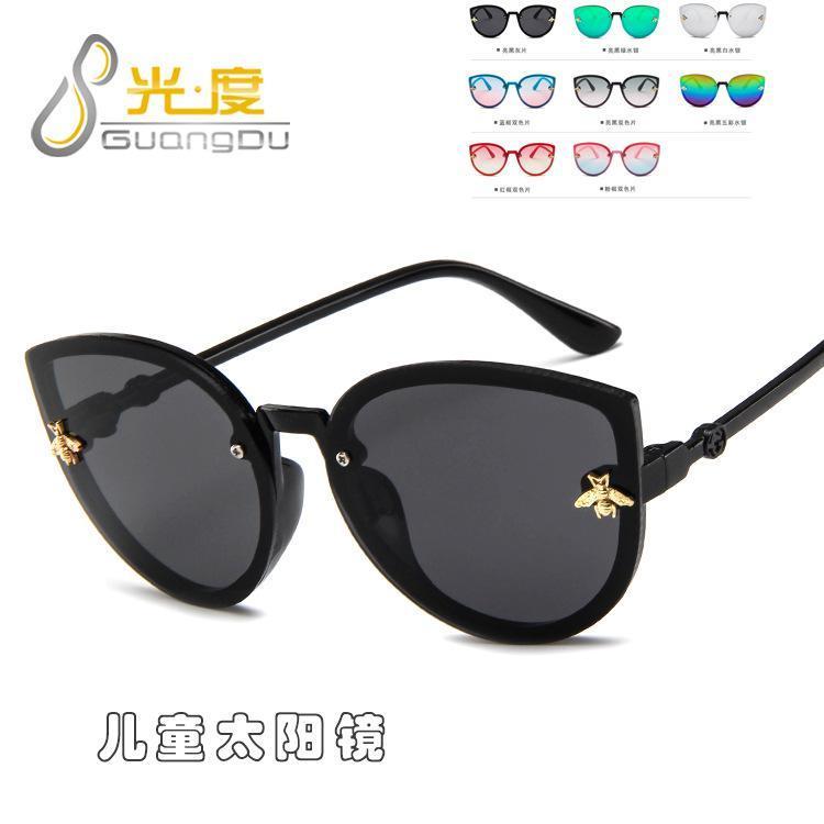 لطيف القط العين الأطفال النظارات الشمسية UV400 عالية الجودة 2020 للأطفال والفتيان والفتيات طفل نظارات الشمس INFANTIL خمر