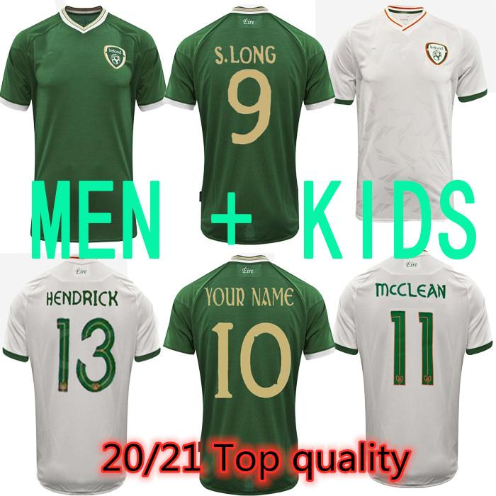 top 19901992 Rétro maison de football Jerseys République de République d'Irlande Jersey National Team Jersey 90 Coupe du monde Chemise de football vert Chemises de football vert
