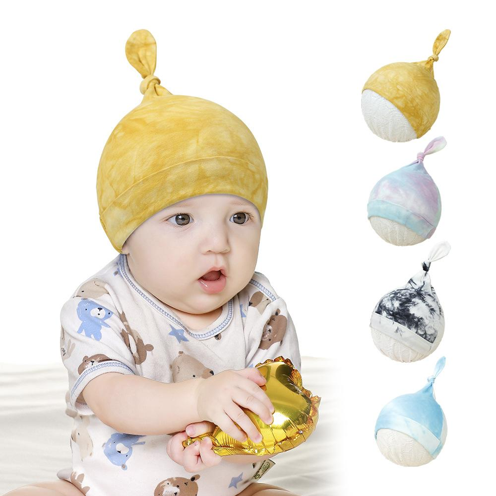 Chapeau de bébé garçon fille chaude hiver chapeaux nouveau-nés chapeaux soft beanie beanie queue coton die tye chapeaux neuf