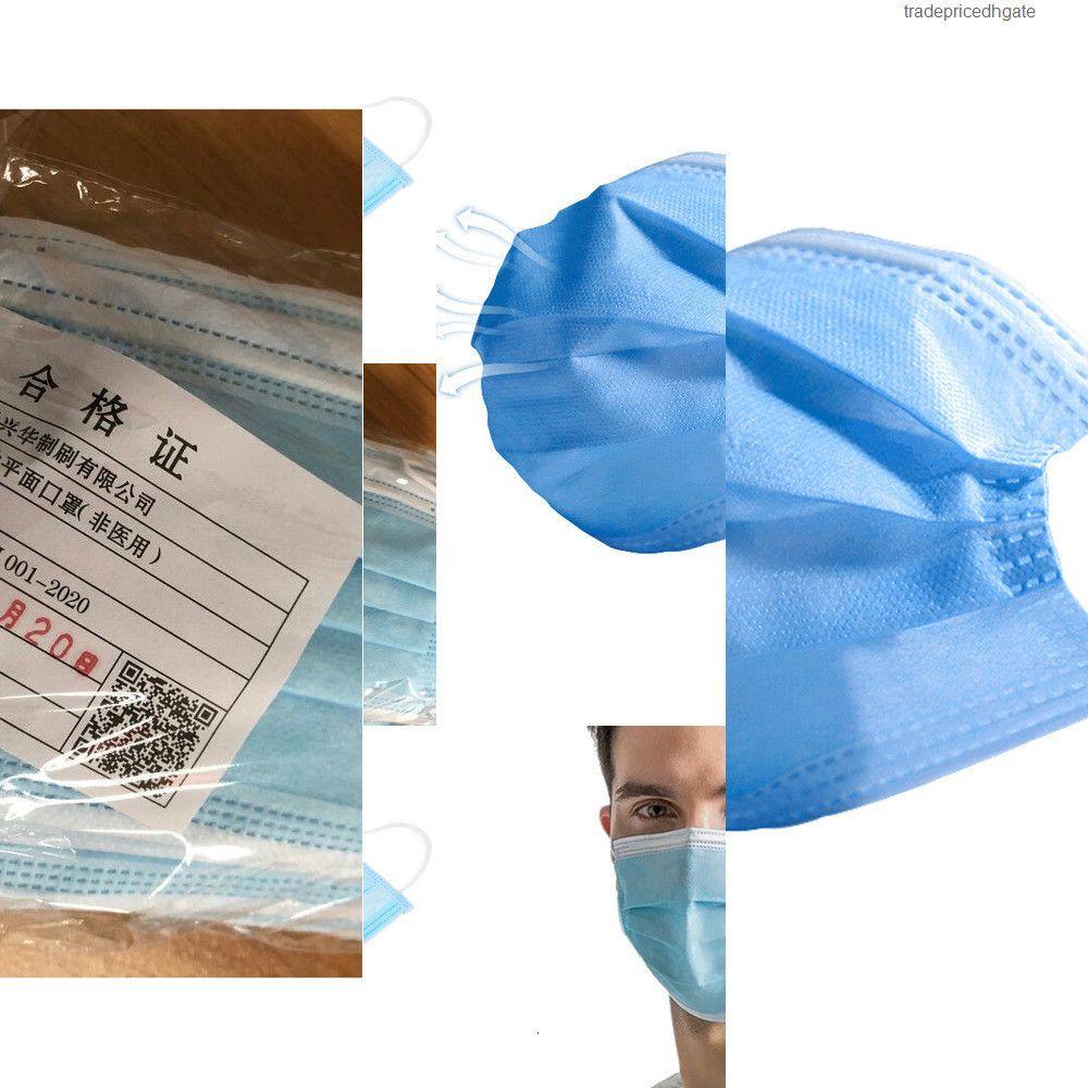 Mouth Ear-loop Facial Disposable Three Face Layer Mask Masks Cover 3-ply Non-woven Disposa Btmz