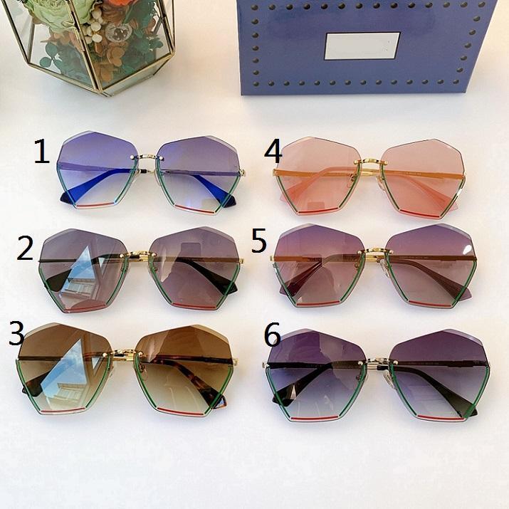 2021 نظارات شمسية موضة جديدة مع مزاجه نظارات السيدات، نظارات شمسية مضللة 0591 الحجم 65'13 '145