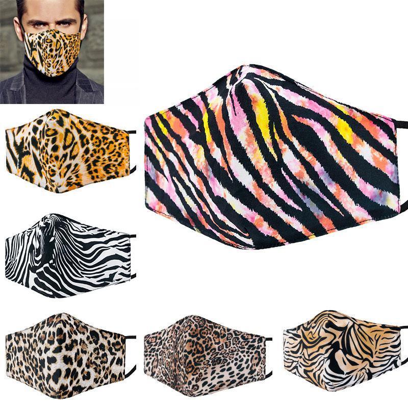 Мода дизайнерские маски лица леопардовые маски пылезащитные могут поставить фильтр PM2,5 можно промыть и повторно использовать маску Bed3311