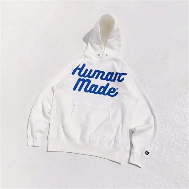 Hoodie Hoods Men Женщины 1: 1 Высочайшее Качество Хлопок Белый Зеленый Пуловер Случайные Человеческие Толстовка