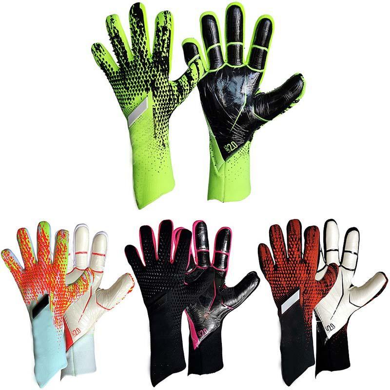 4 мм Латексные дети для взрослых размер футбол вратарь перчатки профессиональные толстые футбольные перчатки вратаря без защиты от пальцев