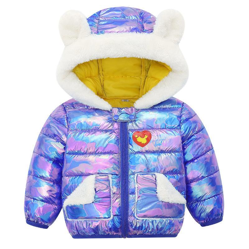 Nouveau 2020 enfants Girls Vêtements d'hiver Veste Veste Girls Girl Goy et Silver Waterproof Boy Casual Capuche Capuche Vêtements Jac