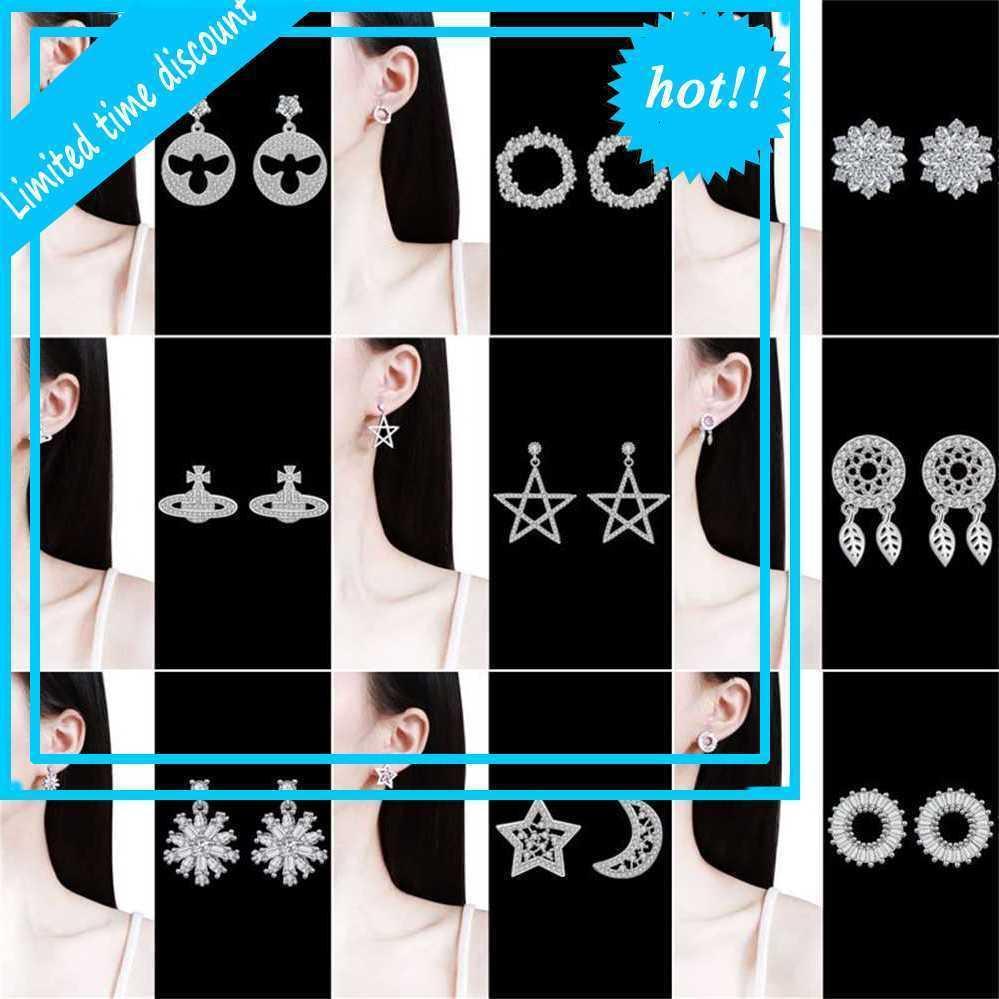 Nuevo PIN para las mujeres coreanas 925 pendientes de plata pura