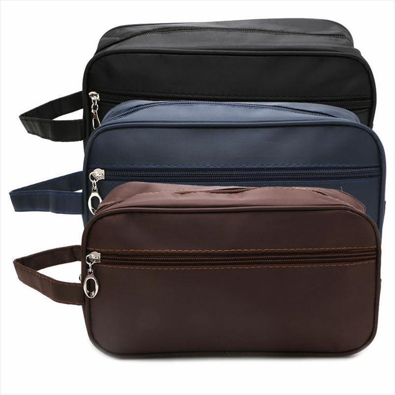 Brand Women Men Small Impermeabile Makeup Bag Travel Beauty Cosmetic Bag Borsa Organizzatore Caso necessari per Trucco Borsa da toilette
