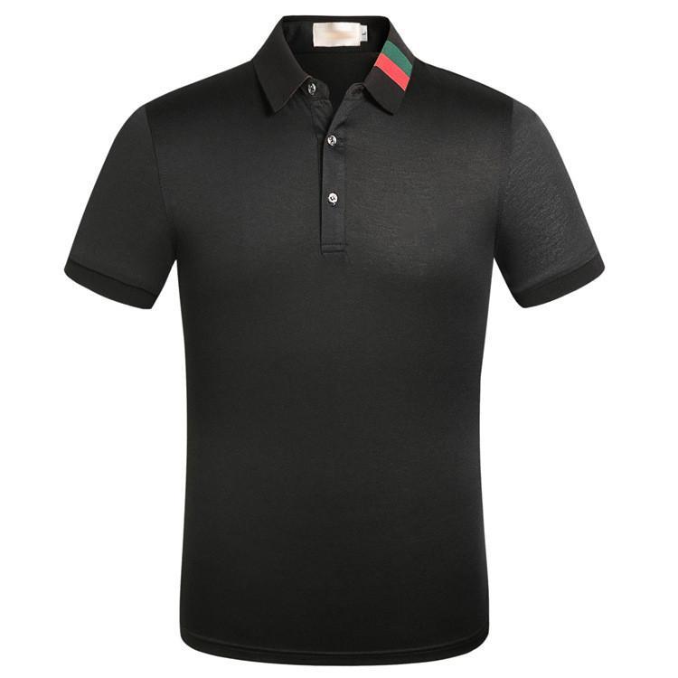 Été Hommes T-shirts T-shirts Chemises en coton Couleur Solide Manches courtes Tops Slim respirant Streetwear Streetwear Homme Tees Taille américaine Taille des vêtements XXXL
