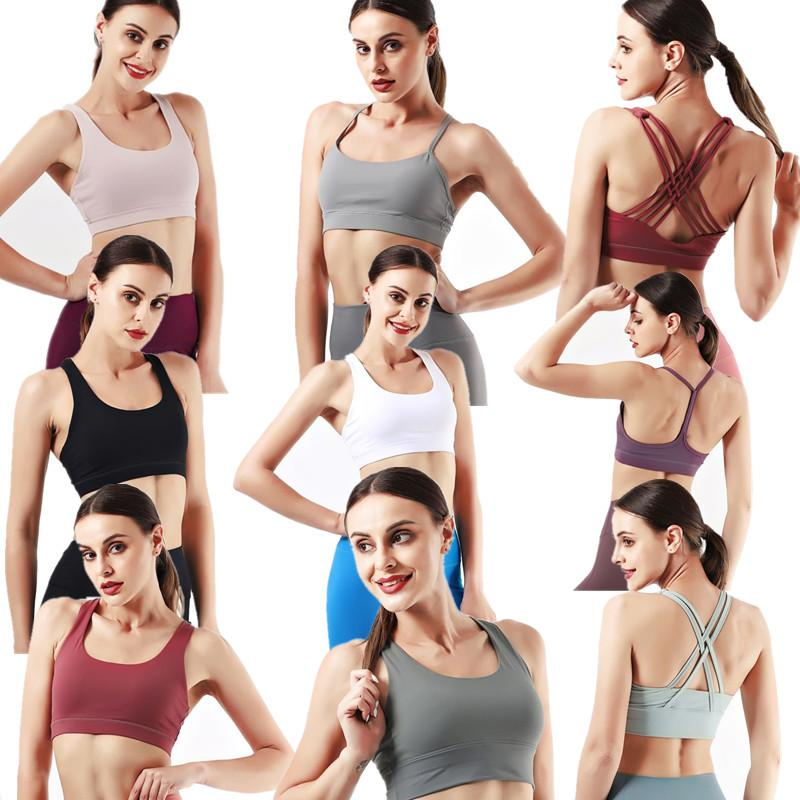 2021 sports bra LU bodybuilding all match casual gym push up bras high quality crop tops indoor outdoor workout clothing