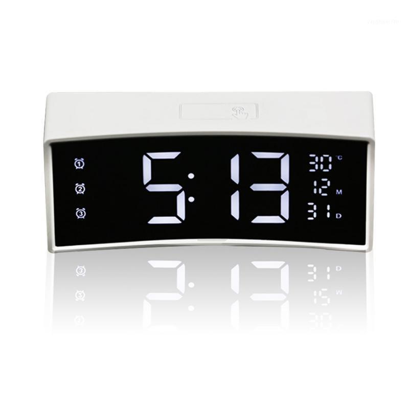 Reloj despertador LED digital con calendario 3D Curved Soperry Screen Table Smart Table Reloj Gran pantalla electrónica1