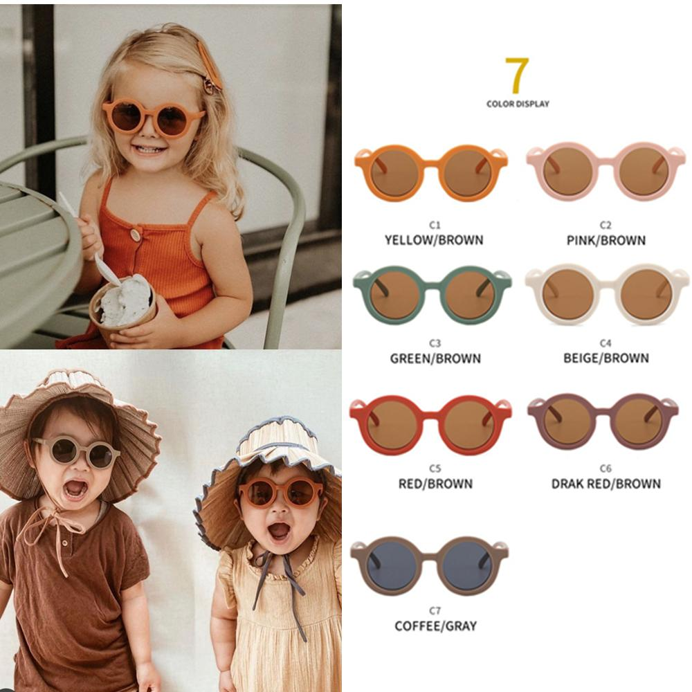 Fashions 7 Colors Cute INS Kids Baby Sunglasses girls boys Sun Glasses Candy Color n Shades For Children UV400