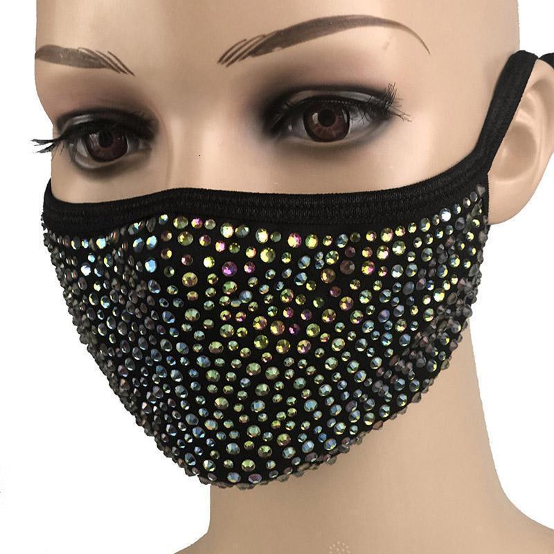 PM2.5 Domothproof Diamond Protetive Boca Reusável Máscara Máscara Máscaras Lavável 2H3F Piems