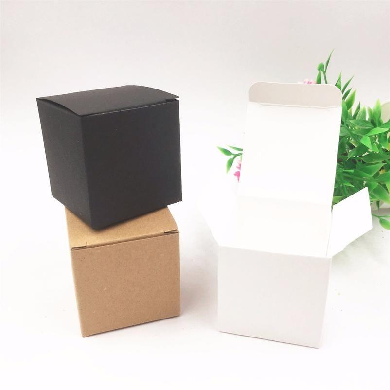 50pcs Per Lot Kraft White/black Heart Shaped Window Cupcake Boxes Wedding Chocolate Packing Party Single Candy/cooki jllhVq